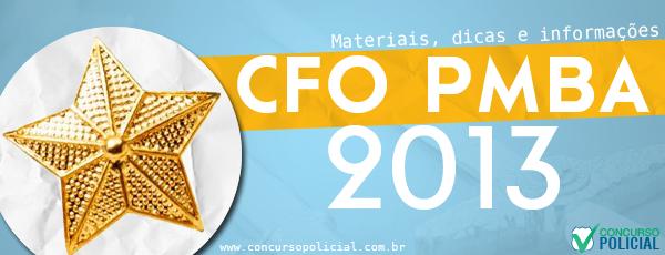 Concurso CFO PMBA 2013