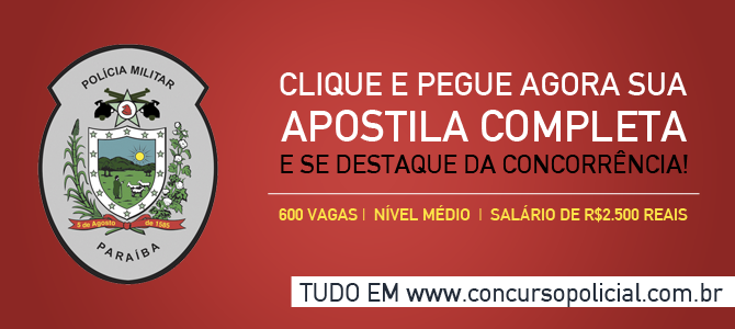 Apostila Concurso Soldado Polícia Militar da Paraíba