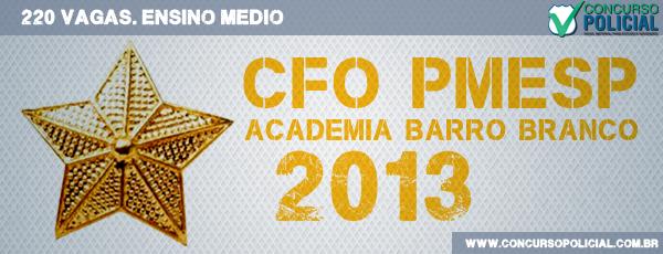 Concurso CFO PMESP 2013