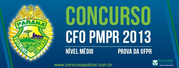 Concurso CFO PMPR 2013