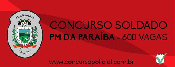 Concurso Soldado PM da Paraíba