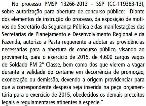 Concurso Soldado PMESP 2014