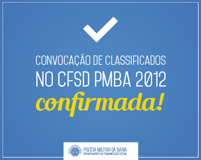 Candidatos Classificados CFSd PMBA 2012
