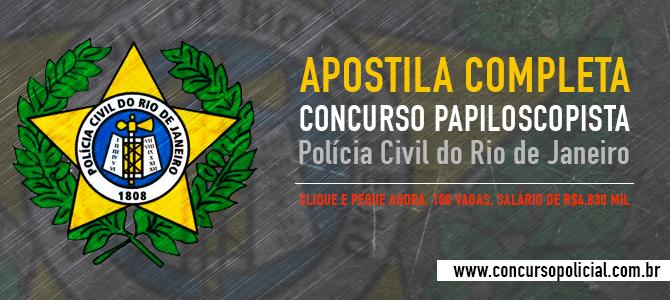 Apostila Papiloscopista PCERJ 2014