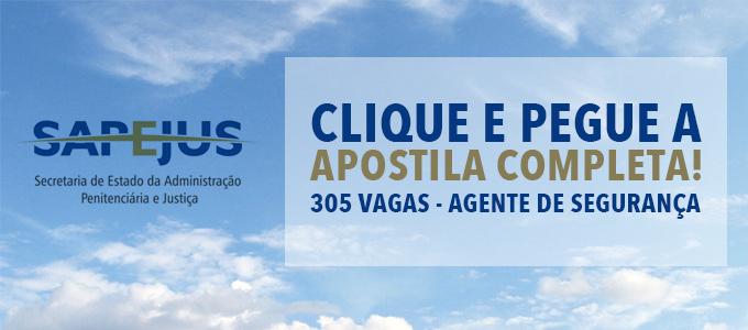 Apostila completa Concurso SAPeJUS Goiás