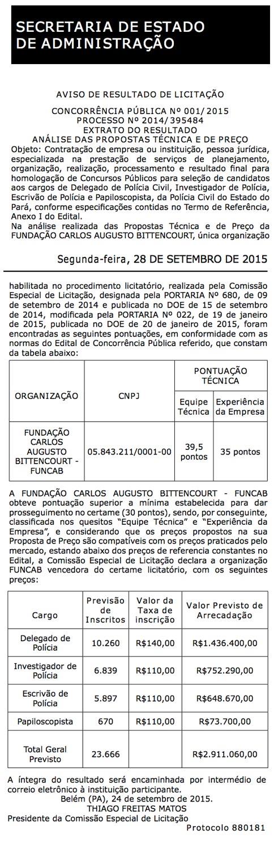 Autorização Concurso Polícia Civil do Pará