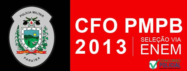 CFO PMPB 2013 - prova via ENEM