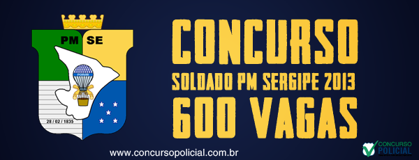 Concurso PMSE 2013 - 600 vagas