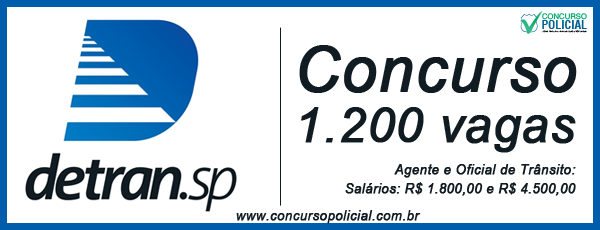 Concurso DETRAN-SP - 1200 vagas