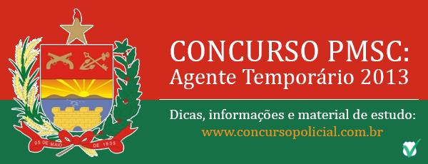 Agente Temporário PMSC 2013