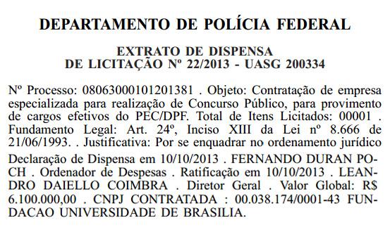 Cespe/UnB - Agente Administrativo Polícia Federal