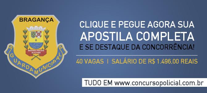 Concurso Guarda Municipal Bragança Paulista 2014