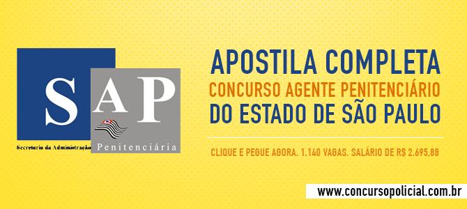 Apostila Completa Agente Penitenciário São Paulo