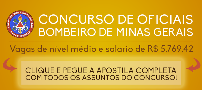 Apostila CFO Bombeiro Minas Gerais