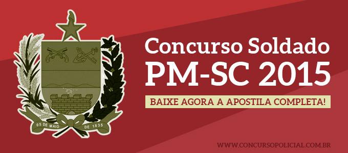 Concurso Soldado PM-SC 2015