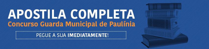 Apostila do Concurso Guarda Municipal de Paulínia