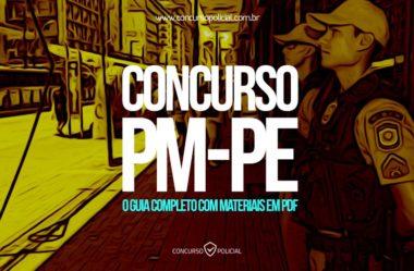 Concurso PM-PE: o Guia Completo (com materiais em PDF)!