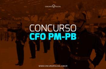Concurso CFO PM-PB: novidade à vista!