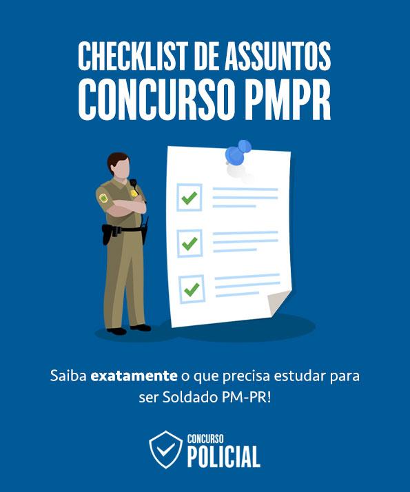 Checklist de Assuntos - Concurso PMPR