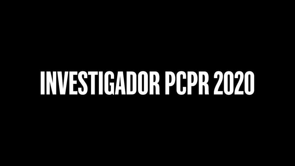Concurso Investigador PCPR 2020
