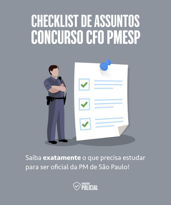 Checklist de Assuntos - Concurso CFO PMESP