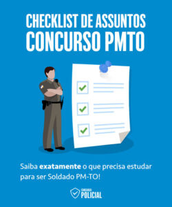 Checklist de Assuntos - Concurso PMTO