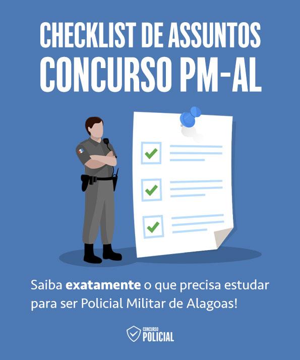 Checklist de Assuntos - Concurso PM-AL