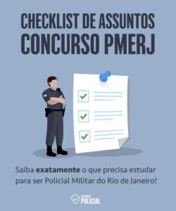 Checklist de Assuntos - Concurso PMERJ