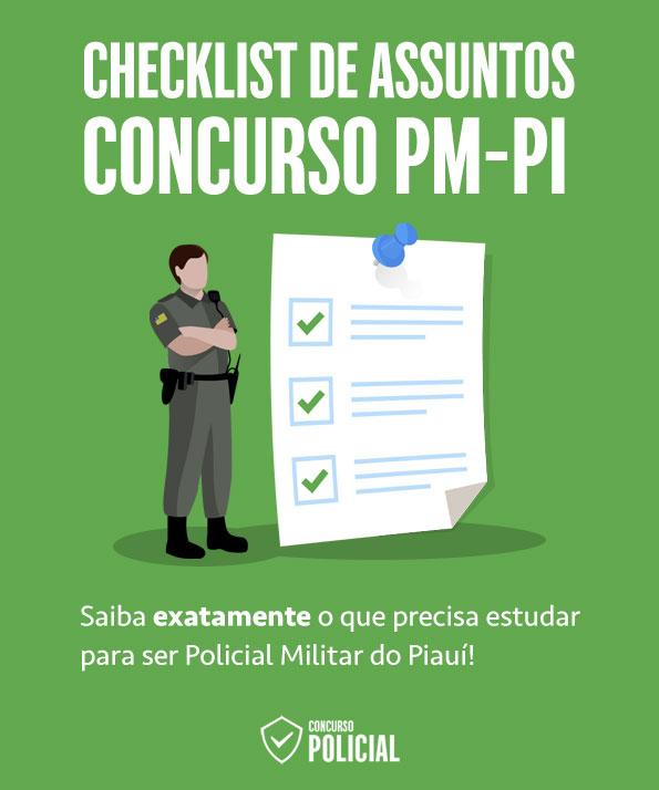 Checklist de Assuntos - Concurso PM-PI