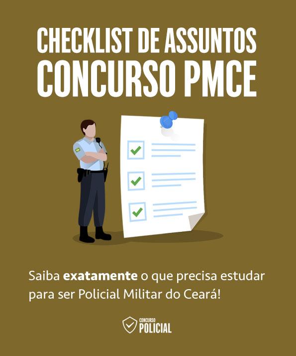 Checklist de Assuntos - Concurso PMCE