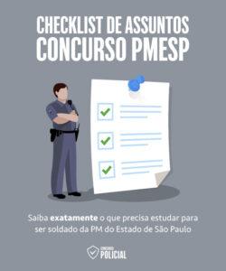 Checklist de Assuntos - Concurso PMESP